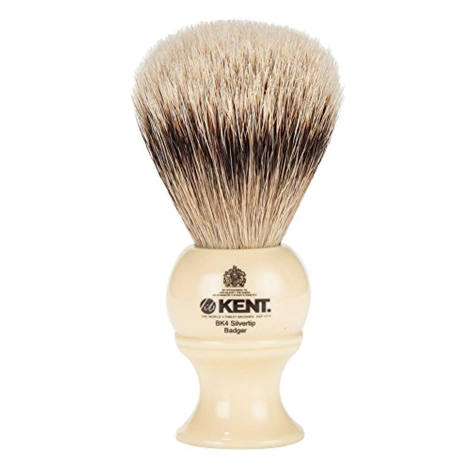 胃差別する等価[ ケント ブラシ ] Kent Brush シルバーチップアナグマ シェービングブラシ (Mサイズ) BK4 ホワイト 髭剃り [並行輸入品]