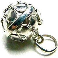 【で¥999】【しゃらん...♪音の鳴るバリ島シルバーペンダント】[Silver925]王冠crown模様のガムランボール:ジャワンタイプ(12mm/SSサイズ)RainbowSpirit