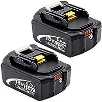 PowerBatteryマキタ 18v バッテリー bl1860b 6.0Ah マキタ18v互換 バッテリーBL1830 BL1840 BL1850 BL1860 リチウムイオン電池 PSE取得済み BL1860B2個セット BL1860B 6.0Ah 二個セット …
