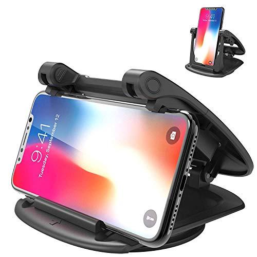 Sennic スマホ車載ホルダー クリップ式 車載ホルダー 360°回転可能 横置・縦置 超安定 ダッシュボードスマホホルダー 携帯電話ホルダー 取り付け簡単・片手操作 スマホスタンド iPhone Android 多機種対応