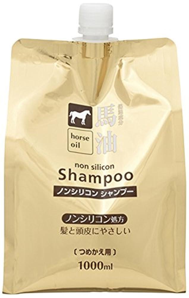 ダーツ忠実なふざけた熊野油脂 馬油シャンプー 詰め替え用 1000ml
