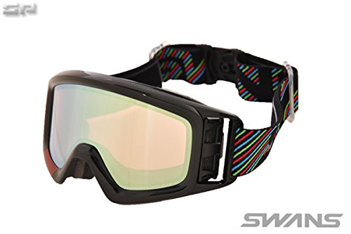 SWANS(スワンズ)大人向け パステルイエローミラー 偏光ピンクレンズ スノーゴーグル 透過率24% HELI-MPDH SPBK F
