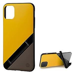 カンピーノ campino iPhone 11 Pro ケース OLE stand スタンド機能 耐衝撃 スリム 動画 Qi ワイヤレス充電対応 バナナイエロー × ココアブラウン Bi-Color