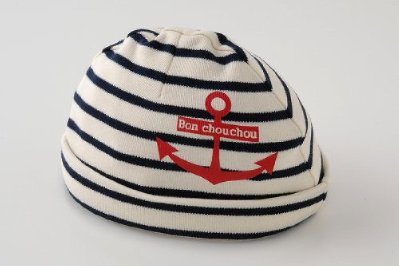 (チャックル) chuckle *ボンシュシュ*マリンボーダー新生児帽子【42-44CM】 ブルー 42cm-44cm P9215-00-31