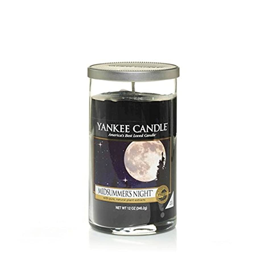 リア王ベテラン同行するYankee Candles Medium Pillar Candle - Midsummers Night (Pack of 2) - ヤンキーキャンドルメディアピラーキャンドル - Midsummersの夜 (x2) [並行輸入品]
