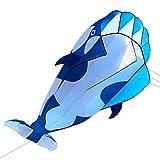 LIXADA 凧 立体キラークジラ スカイカイト 軽量で丈夫 紙鳶 凧揚げ アウトドア ビーチ 公園 子供おもちゃ プレゼントなど最適