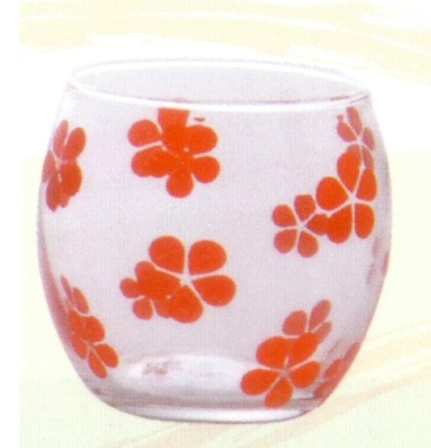 アジアましい秋キャンドルグラス はなはな べに