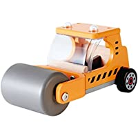 Hape Steam 'N Roll Wooden Kid's Construction Toy Vehicles [並行輸入品]