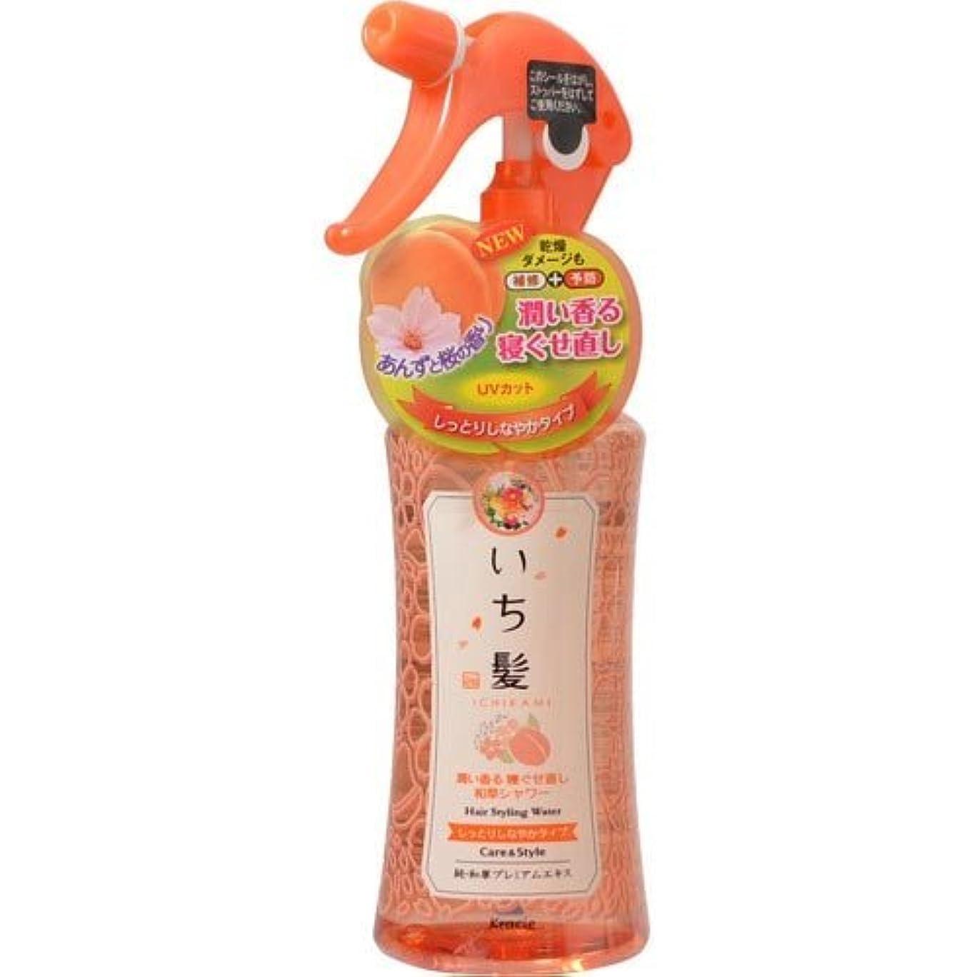 バラ色を必要としています秘書いち髪 潤い香る寝ぐせ直し和草シャワー しっとりしなやかタイプ 250mL