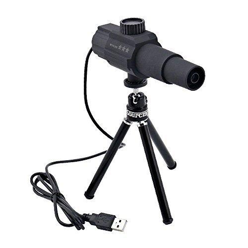 70X スマートデジタル望遠鏡 Sourcingbay 70倍 USB接続 望遠カメラモニターシステム PCとAndroidスマホ両対応 野鳥観察 スポーツ観戦などに適用 ブラック(ソフトあり、ミニ三脚付き)