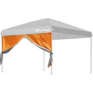 FIELDOOR タープテント 3.0m×3.0m 専用サイドシート(横幕) ウォールジップタイプ (オレンジ) スチール製・アルミ製共通(G3モデル)