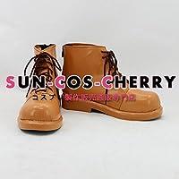 【サイズ選択可】コスプレ靴 ブーツ K-874 VOCALOID マトリョシカ GUMI グミ 男性25.5CM
