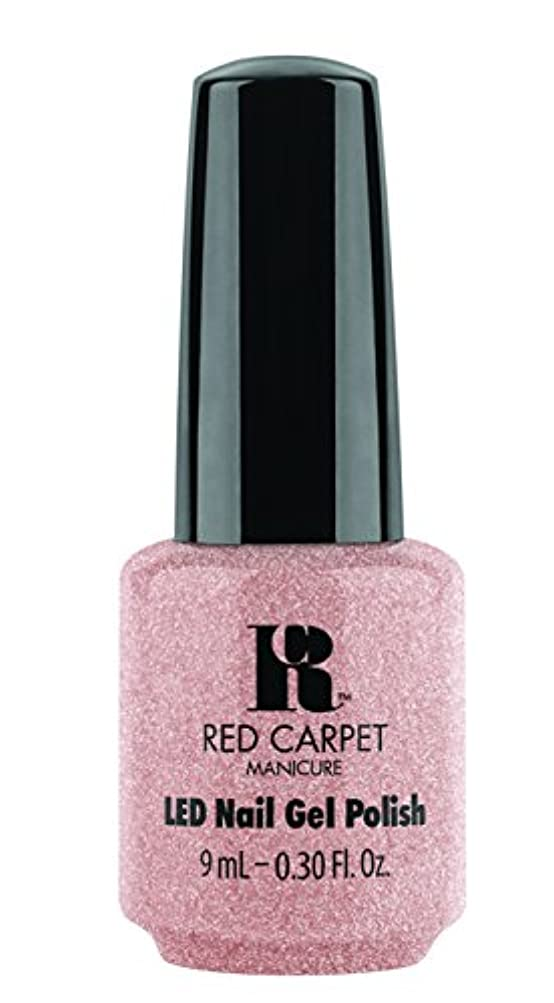 曇った衰える肥満Red Carpet Manicure - LED Nail Gel Polish - Shimmery Silouette - 0.3oz / 9ml