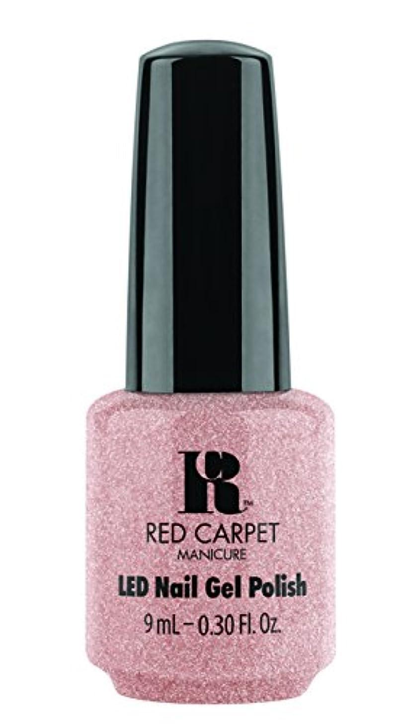 解説ビスケット寄り添うRed Carpet Manicure - LED Nail Gel Polish - Shimmery Silouette - 0.3oz / 9ml