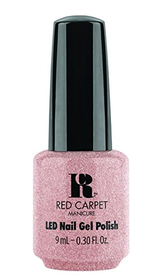 依存運動計り知れないRed Carpet Manicure - LED Nail Gel Polish - Shimmery Silouette - 0.3oz / 9ml