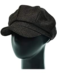 [PLIC N PLOC]EMN10.斜線ウール混レトロメンズレディース ベレー帽 鳥打ち帽 ハンチングフラットキャップ