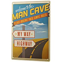 Nostalgic Tin Sign ブリキ看板 Man Cave sign rules