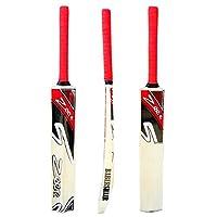 Zeepk Sports Cricket Bat Net Practise Tennis Ball Tape Ball Handcrafted Kashmir Willow Wood FULL ADULT SIZE MODEL RED BABERSHAIR