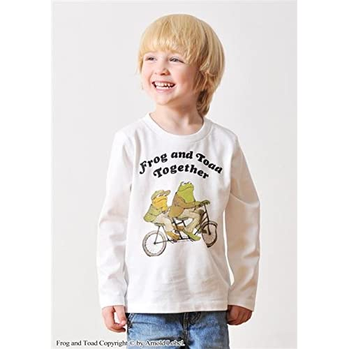 (グラニフ)graniph コラボレーションキッズベーシックロングスリーブTシャツ / ふたりはいっしょ ( がまくんとかえるくん ) ( ホワイト ) 120