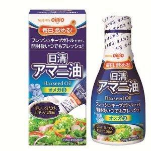 日清 アマニ油フレッシュキープボトル145G×6本...