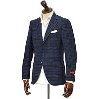 [ISAIA【イザイア】] シングルジャケット 8551P 820 8C SAILOR セイラー ウール グレンチェック ブルー