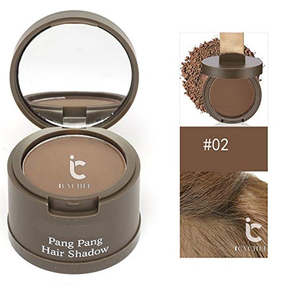 髪のためのヘアラインシャドウパウダー髪のシェーダレタッチルーツと髪パーフェクトカバレッジをラスティングICYCHEER防水ロング (02)