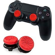 FPSフリーク Vikisda PS4 コントローラー用 PS4 用 アナログスティックカバー PS4 保護カバー PS4 アシストキャップ 可動域アップ アシストキャップ PS4 親指 PS4 グリップキャップ PS4 ジョイスティックカバー (レッド2個セット)