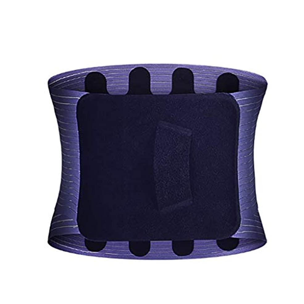 自分のシンプトンゆりかごウエスト補正ベルト、バック/ウエスト暖かさ、ウエストサポートベルト、通気性ベルト、メンズと女性のフィットネスベルト、ワーキング/スポーツ/フィットネスに適した、痛みを緩和、防止けが (Color : 黒, Size : L)