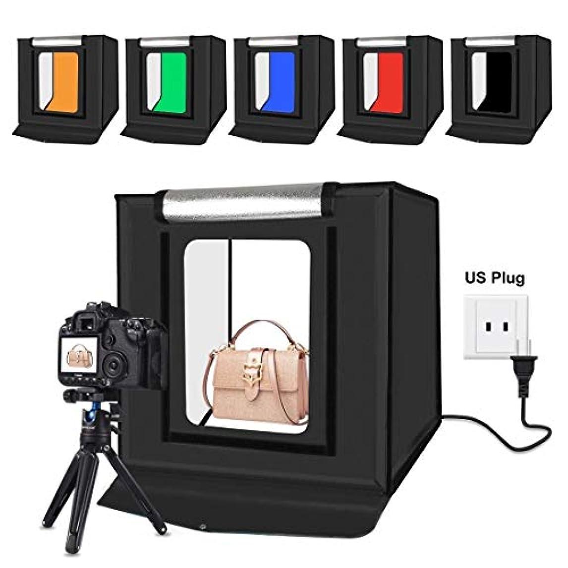 パーセント皮肉な薄めるGM ライトボックス写真, 40cm折りたたみポータブル30W 5500K白色光写真照明スタジオ撮影テントボックスキット、6色背景(黒、オレンジ、白、赤、緑、青) (色 : Color5)