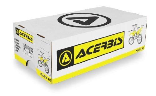 Acerbisブラックフルプラスチックキットfor Kawasaki 2009–11kx450F–Oneサイズ