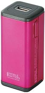 エレコム iPhone&android対応 モバイルバッテリー 単3形乾電池式 ピンク DE-A01D-1908PN