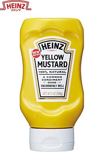 ハインツ (Heinz) イエローマスタード 逆さボトル 226g×4本