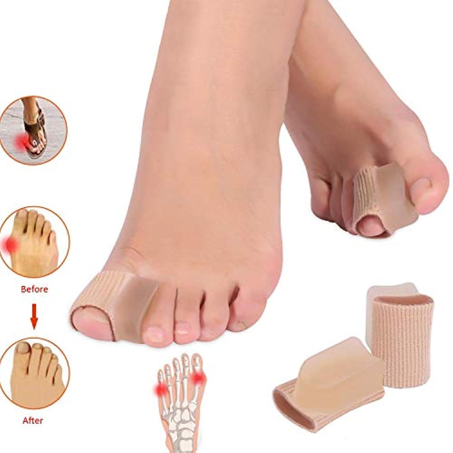 つづりたらい乱暴な外反母趾外反、ハンマーつま先の痛みの軽減のための腱矯正の副木のつま先矯正、Socks-4 PCSの腱の軽減の袖の摩耗