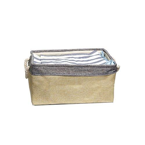 Homau 収納ボックス ランドリー 棉麻製収納ボックス ケース バスケット