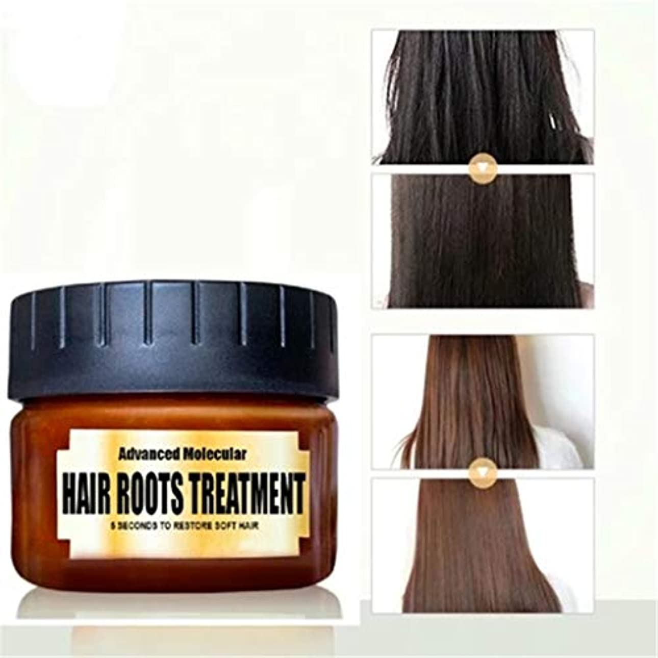イヤホン顕著また明日ねコンディショナー ヘアケアコンディショナー ヘアデトキシファイングヘアマスク 高度な分子 毛根治療の回復 乾燥または損傷した髪と頭皮の治療のための髪の滑らかなしなやか (B 60 ml)