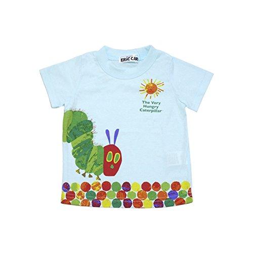 2018年 夏物 はらぺこあおむし 天竺 太陽柄 半袖Tシャツ THE WORLD OF ERIC CARLE サックス◇90cm