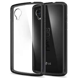 【Spigen】 Nexus 5 ケース ウルトラ・ハイブリッド [ 背面クリア ] ネクサス5 用 (ブラック SGP10609)