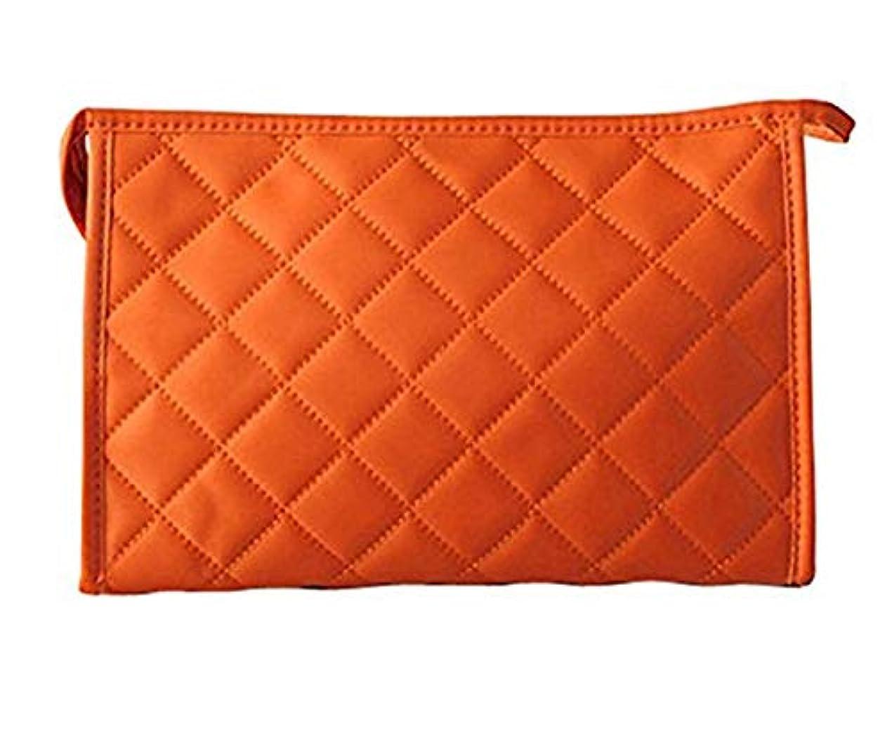 束ねる一瞬寄付女性の化粧品袋ナイロングリッド長方形四角形化粧ジッパーバッグ
