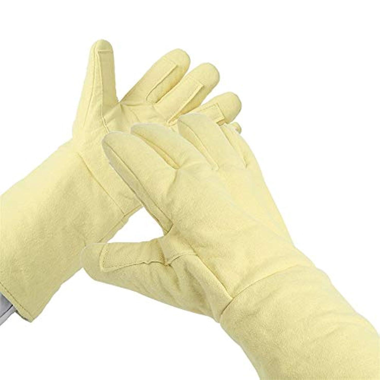 柔らかさ発行する消化BTXXYJP 高温耐性 手袋 アンチカッティング ハンド 穿刺 保護 産業労働者 耐摩耗性 手袋 (Color : Yellow, Size : L)