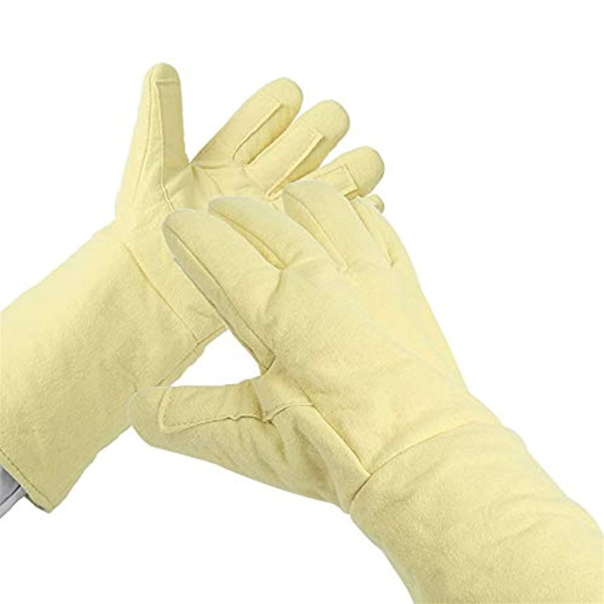 皿なぜなら手がかりBTXXYJP 高温耐性 手袋 アンチカッティング ハンド 穿刺 保護 産業労働者 耐摩耗性 手袋 (Color : Yellow, Size : L)