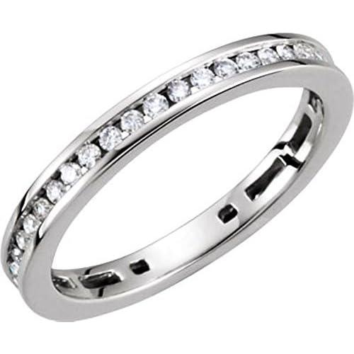 3 / 8 ct twスタッカブルダイヤモンドリングで14 Kホワイトゴールド ? サイズ7