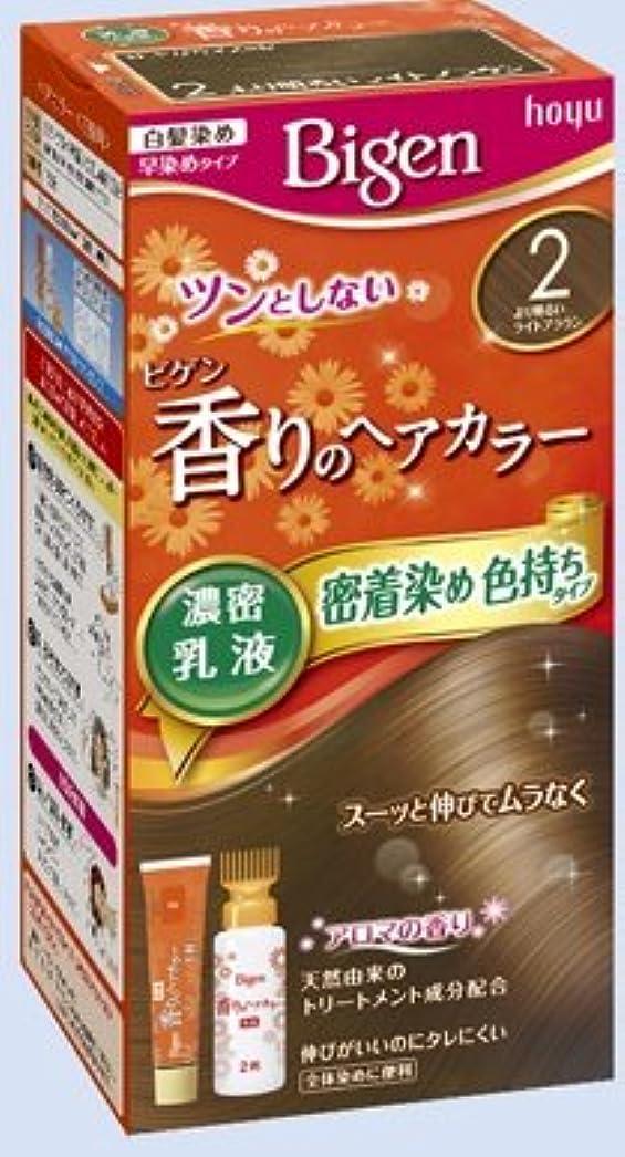 レタッチウェイトレスのヒープビゲン 香りのヘアカラー 乳液 2 より明るいライトブラウン × 10個セット