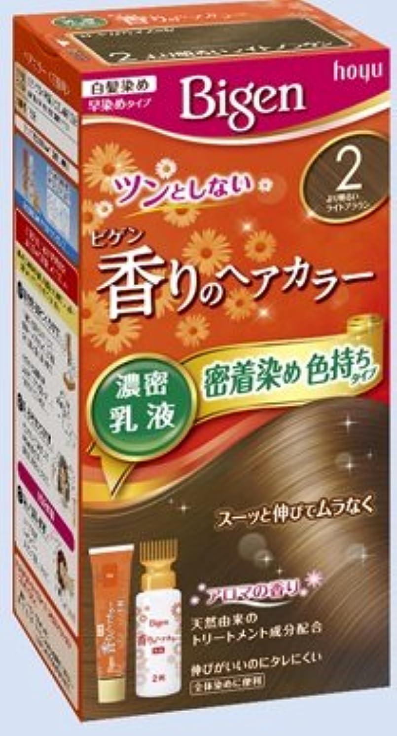 体引く南西ビゲン 香りのヘアカラー 乳液 2 より明るいライトブラウン × 27個セット