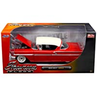 新しい1 : 24 W / B Jada Toys Mijo Exclusivesコレクション – Showroom Floor Series – Red 1958 Chevrolet Impala DiecastモデルCar by Jada Toys