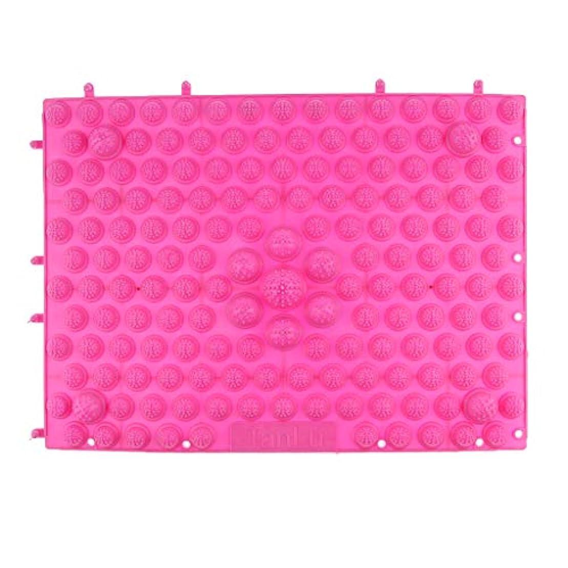 エンティティ香港手当フットマッサージマット マッサージシート 指圧クッション ストレス解消 快適 多色選べ - ピンク