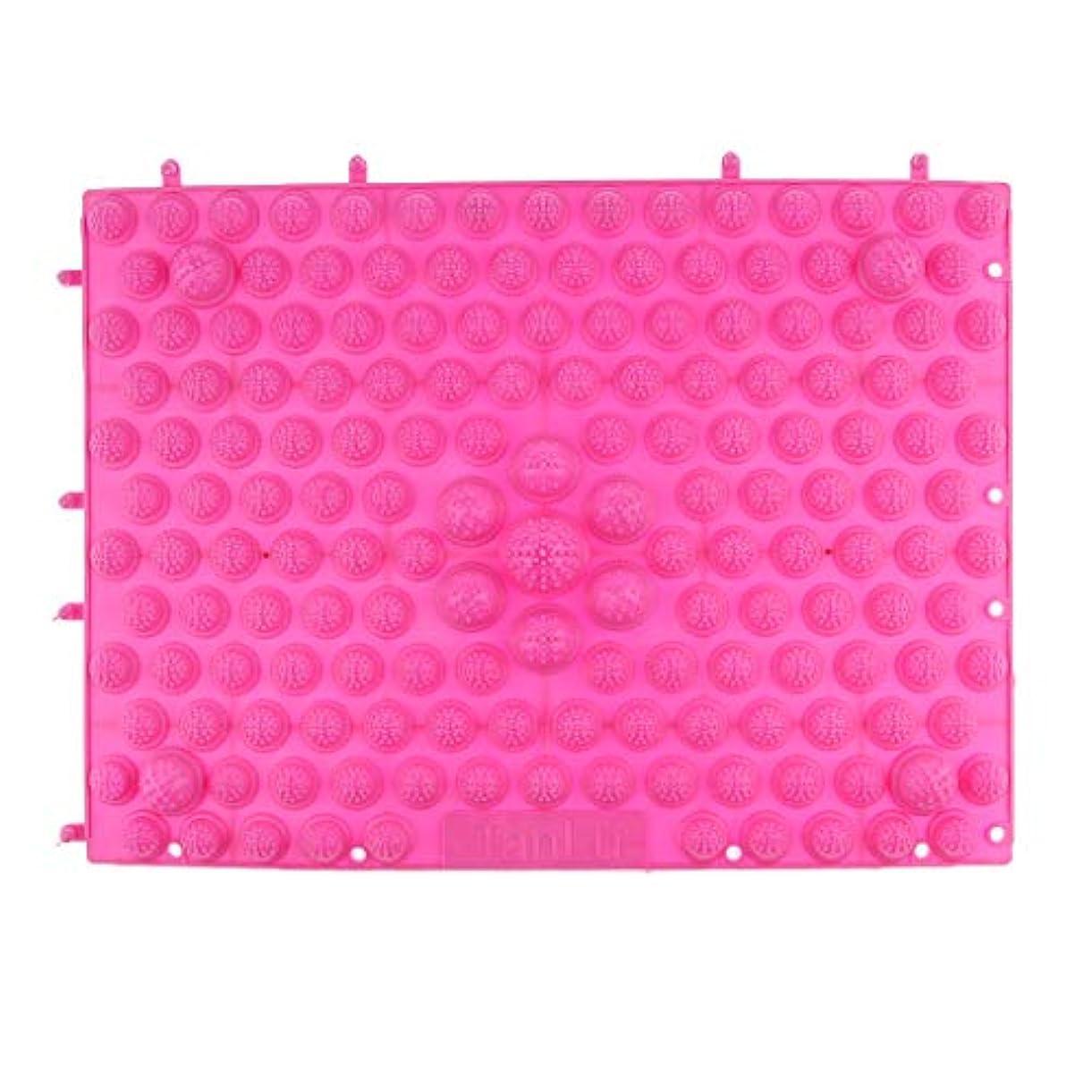 重荷並外れて成長するフットマッサージマット マッサージシート 指圧クッション ストレス解消 快適 多色選べ - ピンク