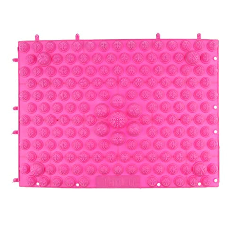フックタヒチ年フットマッサージマット マッサージシート 指圧クッション ストレス解消 快適 多色選べ - ピンク