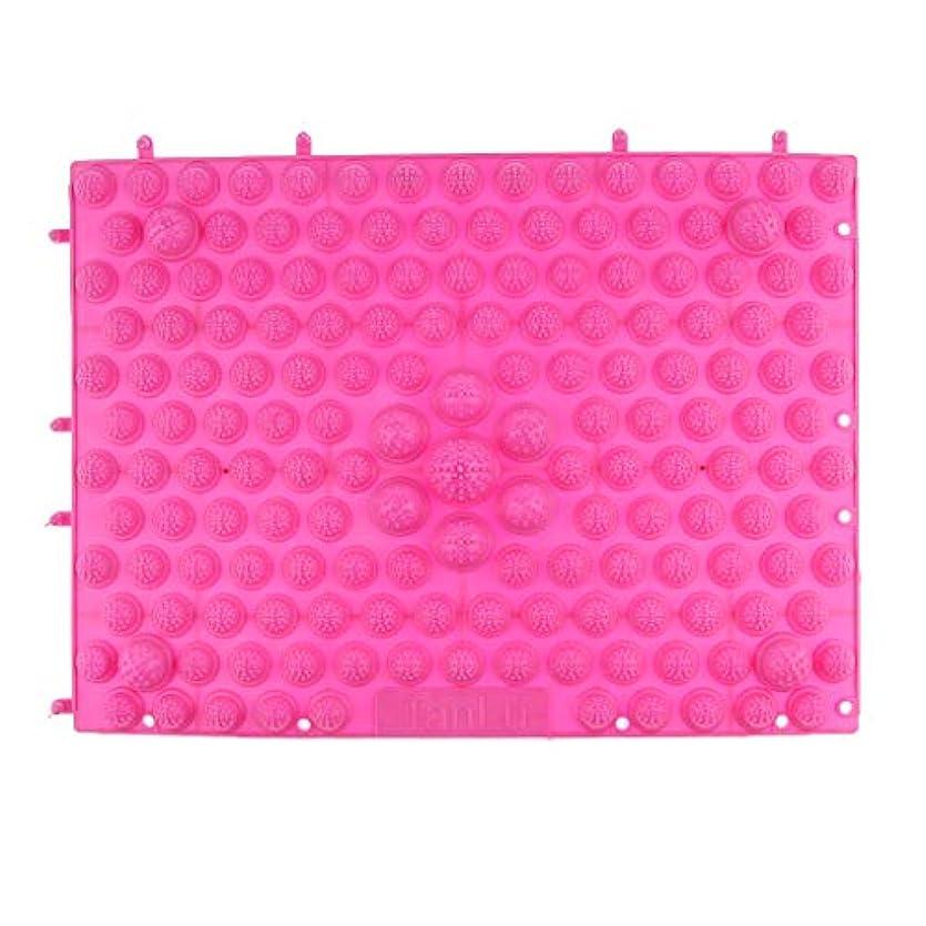 ガラス疑い者中絶フットマッサージマット マッサージシート 指圧クッション ストレス解消 快適 多色選べ - ピンク