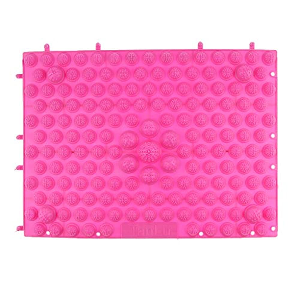 としてセグメントブロックフットマッサージマット マッサージシート 指圧クッション ストレス解消 快適 多色選べ - ピンク