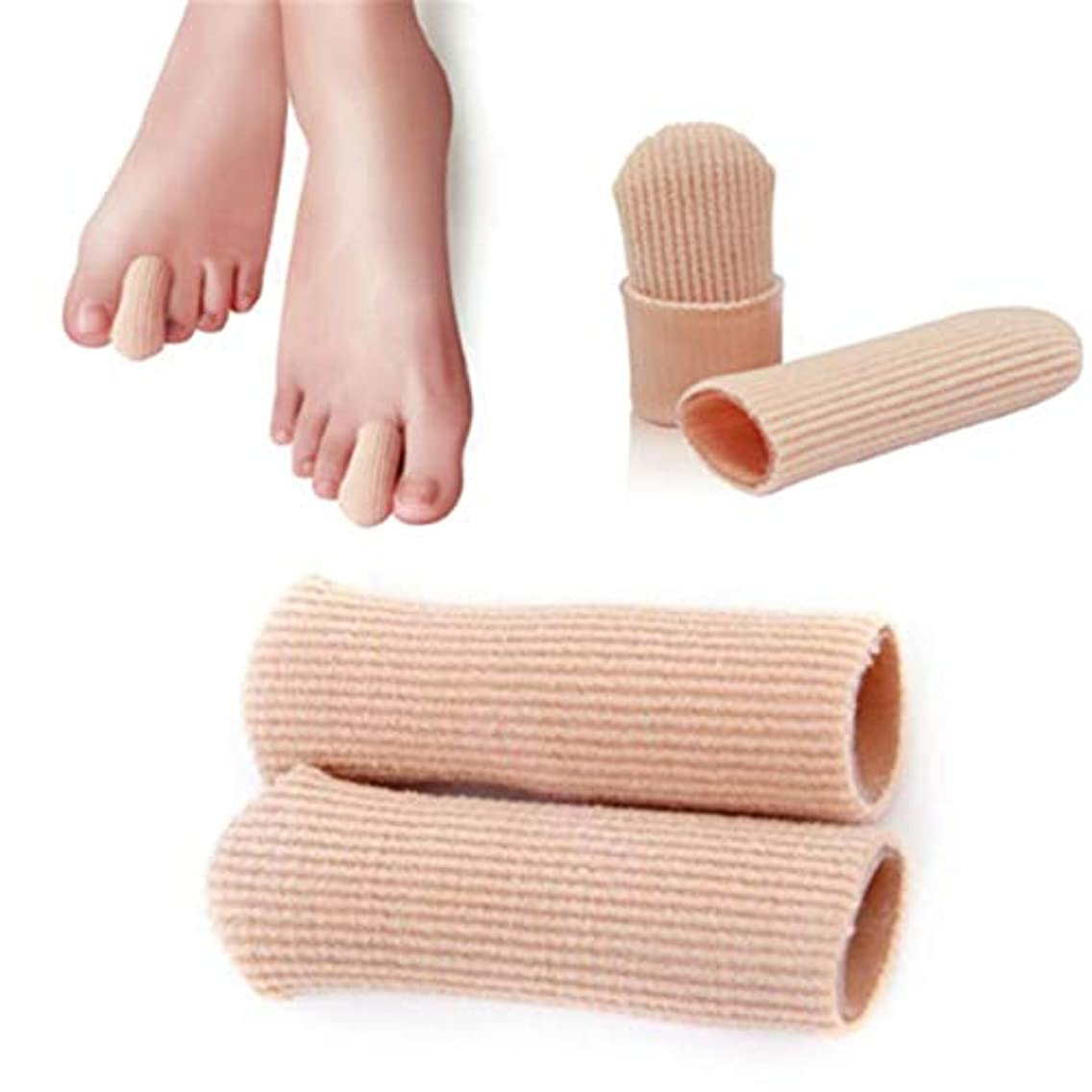 永久振幅解決するB-035 SEBS Toe Tube Toe Caps Toe Cushions Foot Corns Remover Finger Toe Protect Body Massager Insoles Health Care